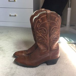 Ariat Shoes | Ariat Leather Cowboy Boot